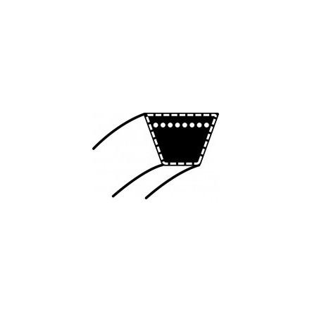 Courroie tondeuse universelle 3L290 9.5 x 737mm