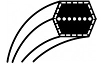 COURROIE KUBOTA G18, G 21, GR 2100